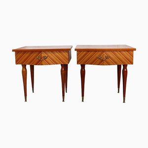 Mid-Century French Nightstands, 1970s, Set of 2