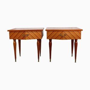 Tables de Chevet Mid-Century, France, 1970s, Set de 2