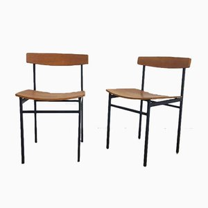 Vintage Teak Dining Chairs by Martin Visser, 1960s, Set of 2
