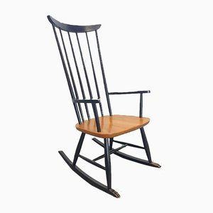 Vintage Swedish Rocking Chair by Lena Larsson for Pastoe, 1960s