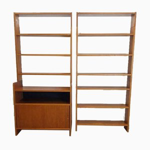 Vintage Teak Sliding Door Bookcase by Poul Cadovius