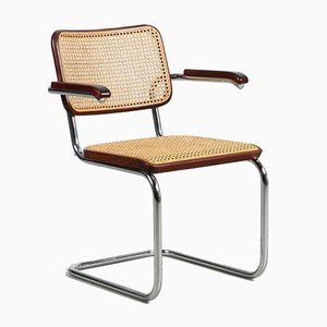 Bauhaus Mahogany S64 Cantilever Chair by Marcel Breuer for Thonet, 1980s