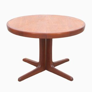 Mid-Century Modern Scandinavian Circular Dining Table in Teak by Niels Koefoed, 1960s