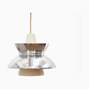 Lampada a sospensione Mid-Century moderna in metallo cromato di Louis Poulsen, Scandinavia