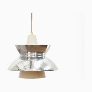 Mid-Century Modern Scandinavian Chrome Doo-Wop Pendant Lamp from Louis Poulsen