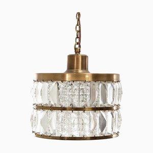 Mid-Century Modern Scandinavian Pendant Lamp in Crystal, 1960s
