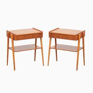 Tables de Chevet Mid-Century Modernes Scandinaves, 1960s, Set de 2