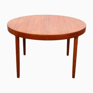 Mid-Century Modern Scandinavian Circular Dining Table in Teak by Harry Ostergaard for Randers Møbelfabrik