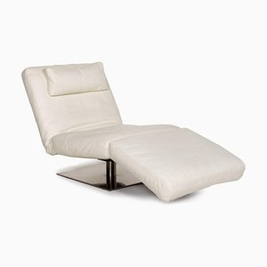 White Leather Lounge Chair from Natuzzi