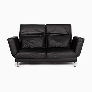 Black Leather Moule Sofa Bed by Roland Meyer-Brühl for Brühl & Sippold