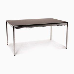 Dark Brown and Metal Desk from USM Haller