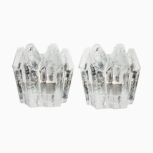 Crystal Glass Votive Candleholders by Kosta Boda for Orrefors, 1980s, Set of 2