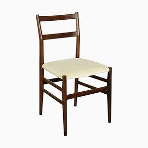 Vintage Italian Ash, Foam & Velvet Chair by Gio Ponti for Cassina