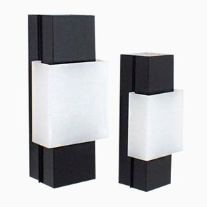 Black and White Wall Lights, 1960s, Set of 2
