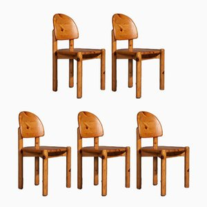 Chairs in the Style of Rainer Daumiller for Hirtshals Savvaerk, 1970s, Set of 5