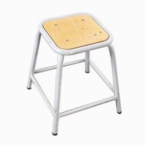 Grey Low Stacking Stool from Mullca, 1920s