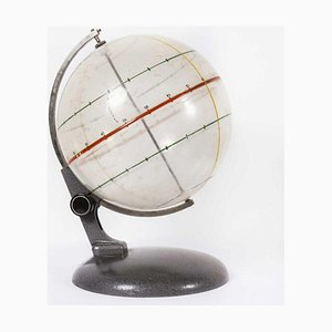 Opaque Earth Geography Rotating Teaching Globe, 1950s