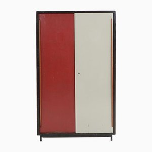Large Wardrobe Cabinet by Willy Van Der Meeren for Tubax, 1950s