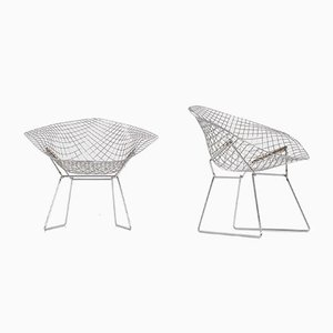 Diamond Chairs by H. Bertoia for Knoll International & De Coene, 1950s, Set of 2