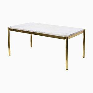 Tavolino di servizio in marmo e ottone di Osvaldo Borsani per Tecno, anni '70