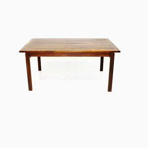 Rosewood and Suede Model Linjett Coffee Table by Anders Löfgren for Tingströms, 1960s