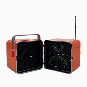 Red Model TS502 Portable Radio by Marco Zanuso & Richard Sapper for Brionvega, 1960s