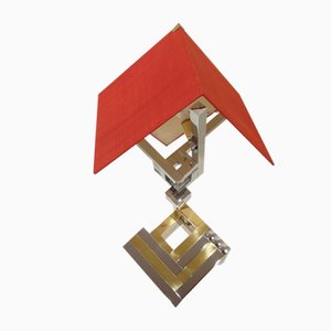 Lámpara de mesa italiana de Willy Rizzo para Lumica, años 70