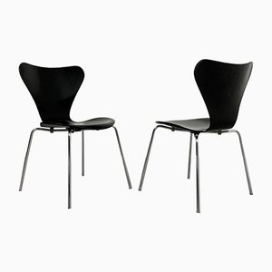 Butterfly Dining Chairs by Arne Jacobsen for Fritz Hansen, 1970s, Set of 6