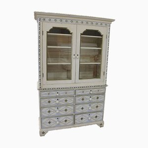 Antique White Painted Chiffoniere Bookcase