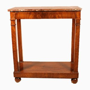 Small 19th Century French Mahogany Console Table