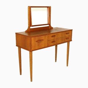 Swedish Oak and Teak Dressing Table, 1960s