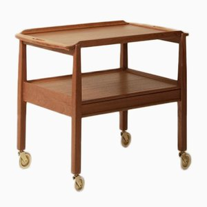 Vintage Swedish Teak Tea Trolley from Tingströms, 1950s