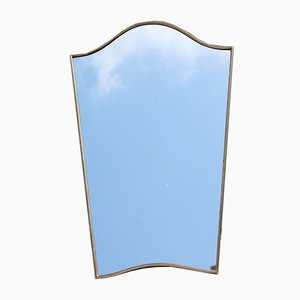 Italian Shaped Brass Mirror, 1950s