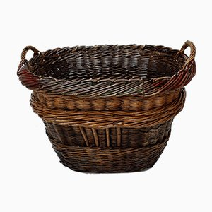 Antiker Französischer Champagne Grape Harvest Basket