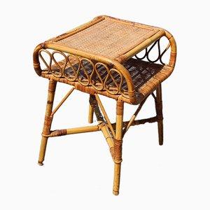 Italian Bamboo Nightstand, 1950s