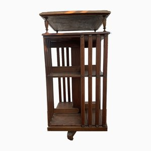 Antique Walnut Swivel Library from Terquem, 1900s