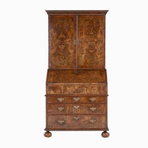 17th Century William and Mary Walnut Bureau Cabinet