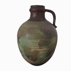 Large Studio Ceramic Handle Vase, 1970s