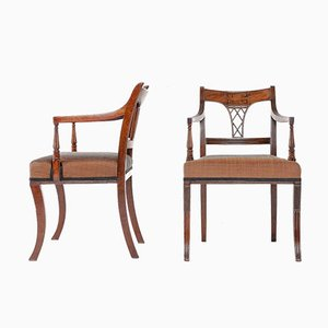 19th Century Regency Mahogany Dining Chairs, Set of 8