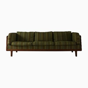 Mid-Century 3-Seater Teak and Walnut Sofa, 1960s