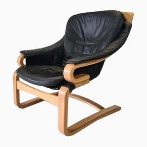 Leather Model Apollo Lounge Chair by Svend Skipper for Skippers Mobler, 1970s