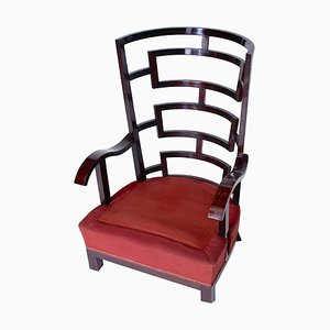 19th Century Castle Wingback Chair