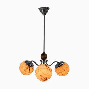 Lámpara de araña Art Déco, años 30