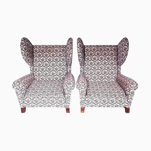 Vintage Wing Chairs, 1960s, Set of 2