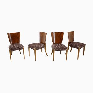 Art Deco H-214 Dining Chairs by Jindrich Halabala for UP Závody, 1940s, Set of 4