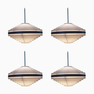 Mid-Century UFO Pendant Lamps from Elektrosvit, 1970s, Set of 4