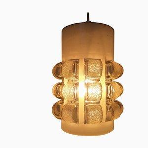 Mid-Century Glass Pendant Lamp, Italy, 1968