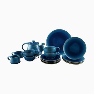 Tea Service for Four People by Niels Kähler for Kähler, Denmark, 1960s, Set of 16