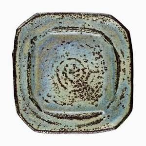 Large Ceramic Dish in Rustic Style by Lis Ehrenreich, 1970s