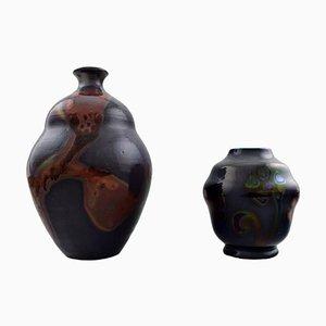 Vases by Åke Holm for Höganäs, 1940s, Set of 2